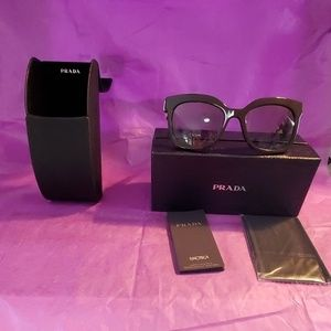 PRADA HERITAGE 53mm SUNGLASSES BROWN NEW